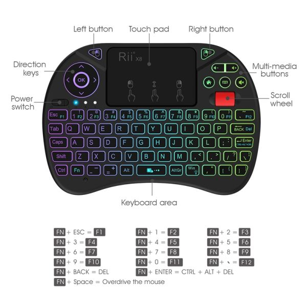 rii mini wireless keyboard instructions