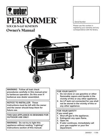 weber one touch charcoal grill assembly instructions