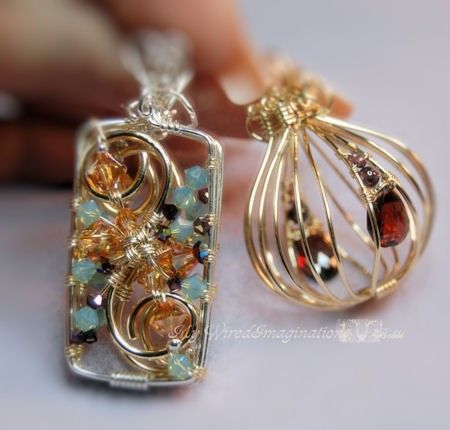 wire wrapping pendants instructions